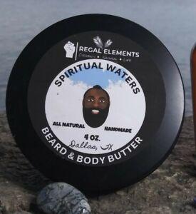 """Spiritual Waters"" All Natural, Handmade Beard & Body Butter by Regal Elements"