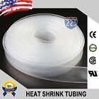 100 Ft. 100 Feet Clear 12 13mm Polyolefin 21 Heat Shrink Tubing Tube Cable
