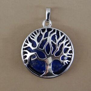 Argent sterling 925 arbre de vie Pendentif arbre de vie Yoga /ésot/érisme spirituel astrologie arbre du monde avec soleil et lune