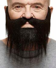 High quality Hipster false, self adhesive black beard