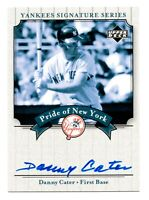 2003 Upper Deck Yankees Signature Pride of New York Danny Cater Autograph