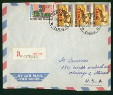 Mayfairstamps Congo 1965 Matete to Chicago IL Registered Airmail Cover wwr27233