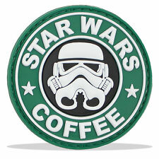 3D PVC Rubber Star Wars Coffee Military Tactical Airsoft Morale Patch Badge NEW