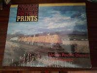 New AMERICAN RAILROAD PORTFOLIO PRINTS UNION PACIFIC DIESELS 11x14 1990 Lambert