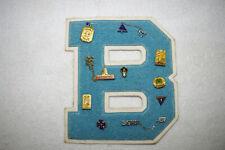 Vintage Varsity Letter 'B' Patch Letterman BCHS 67 FNA 67 ECT JADIAPRINCE 4-YOU