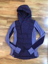 Lululemon Fluff Off Hooded PulloverDown Zinfandel Purple 4 Down For A Run Jacket