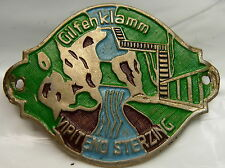 Gilfenklamm Vipiteno Sterzing used stocknagel hiking medallion mount G5241