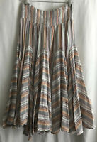 Philosophy Republic Clothing Women's Stripe Skirt Maxi Elastic Waist Boho Size L