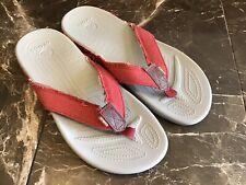 Crocs Mens 11 Red Flip Flops Sandals