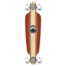 Yocaher Drop Through Crest Burgundy Longboard Complete