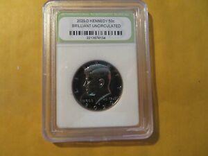 2020 D BU Slabbed Kennedy Half Dollar #148