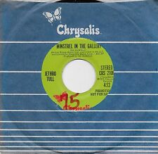 JETHRO TULL  Minstrel In The Gallery  rare promo 45 from 1975