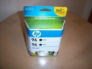 Genuine Sealed HP 96 Black Twin Pack Ink Cartridges C9348FN  Exp 8/2010