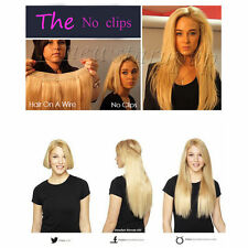"""Halo Invisible 100% Human Hair Extension One Piece Wire Headband 26"""" 28"""" 200g"""