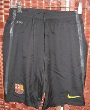 "Nike Dri Fit Fcb Soccer Shorts Youth Boys S 8-10 Barcelona black 24"" waist"