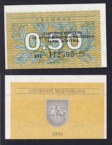 Lituania 0,50 talonas 1991 FDS/UNC  B-09