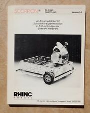 1983 RHINO ROBOTS SCORPION MANUAL Sandhu Advanced Robot A.I. Book HTF