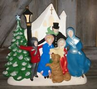 Vintage Atlantic Mold Hand Painted Christmas Carolers Ceramic excellent cond!