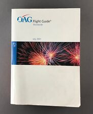 OAG FLIGHT GUIDE JULY 2001 TIMETABLE AIRWAYS AIRLINE TIMETABLE ABC - 1700+ PAGES