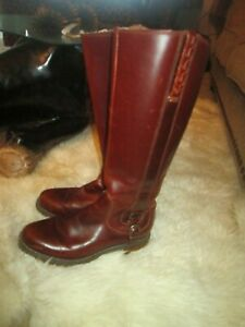 FANTASTIC WOMENS ARIAT SALEN ROPER BROWN TALL LEATHER RIDING STYLE BOOTS SZ 8.5