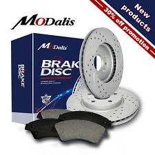 Front Kit Drilled Brake Rotors & Ceramic Pads Fit for Honda Accord Civic CRV