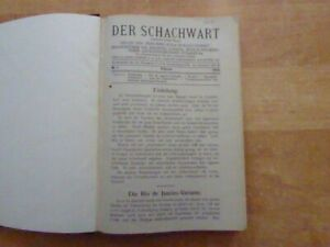 Der Schachwart 1. + 2. Jahrgang 1913 - 1914 alles Erschienene Originalausgabe
