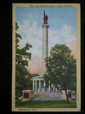 LINEN POSTCARD  USA NEW YORK PEACE MONUMENT LOOKOUT MOUNTAIN