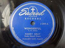 Harry Gray Wonderful / Abide with Me Sacred J 284 VG++