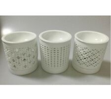 New Ceramic Essential Oil Burner White Porcelain Wax Melt Warmer Fragrance