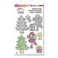 Stampendous Stamp & Dies Set - Decorate - Christmas, Tree, Presents, Fairy