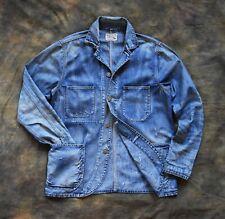 Brilliant Polo Ralph Lauren Distressed Denim Chore Coat Jacket Sz M Vintage RRL