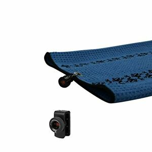 New Frogger TRAX Blue Golf Towel with Latch it System and Free Champ Golf Tee