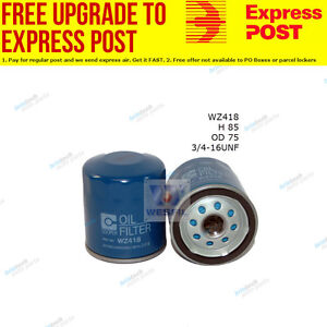 Wesfil Oil Filter WZ418 fits Toyota Camry 2.5 V6 (VZV21),3.0 V6 (MCV20R),3.0