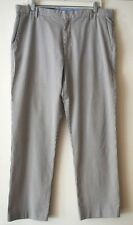 J CREW Seersucker Pants Mens Size 36 x 30 100% Cotton Trousers Suiting Blue