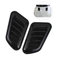 2pcs Car Decorative Air Flow Intake Vent Bonnet Base Covers Hood Scoop Universal