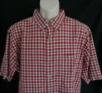 Woolrich Red plaid short sleeve shirt men's XL