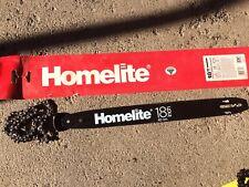 """HOMELITE - 18"""" Model RANGER, 3350, 3550, 3850 Chainsaw Bar & CHAIN, NEW"""
