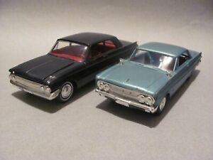 Pair of Built AMT Mercury Kits: 1962 Meteor 2 Door Sedan, 1964 Comet Hardtop