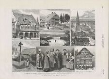 1882 GERMANY IN AND ABOUT THE BLACK FOREST COSTUMES CATHEDRAL FREIBURG