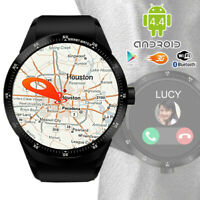 GSM 3G Smartwatch & Phone Android 4.4 Bluetooth Sync Google Play Store GPS WiFi