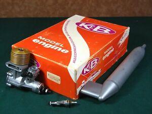 NIB K & B 61 ABC 2 STROKE  AIRPLANE ENGINE(YELLOW) W/REMOTE NEEDLE VALVE/MUFFLER