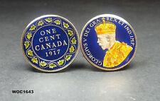 Canada British coin cufflinks George V one cent