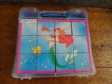 Vintage Disney The Little Mermaid Kids Building Blocks Puzzle new