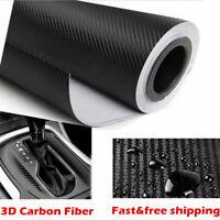 3D Carbon Fiber  Matte Black Vinyl Car Wrap Sticker Decal Film Decal Sheet