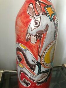 Giovanni De Simone ceramic  lamp Desimone Picasso Gambone Vietri design 60 70