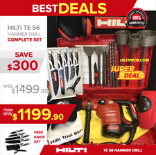 Hilti Te 56 Hammer Drill, Preowned, Free Knife Set, A Lot Of Extras, Fast Ship
