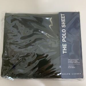 Ralph Lauren The Polo Sheet One Full Flat Sheet Olive Branch 275 Thread Count