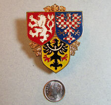 Lg Czech Republic Prague Castle Guard Military Army Officer Badge Czechoslovakia