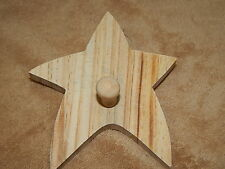 Unfinished Wood Wooden Star Peg Kids Room Wall Hook Ready to Paint