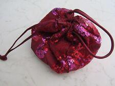 borsa stoffa rosso bordeaux pailletes e ricami x conferzione regalo